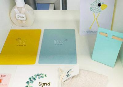 Geboortekaartjes en doopsuiker kaartjes/stickers